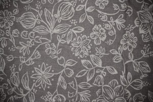 Gray Fabric with Floral Pattern Texture - Free High Resolution Photo