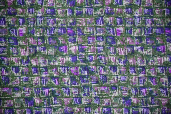 Green and Purple Abstract Squares Fabric Texture - Free High Resolution Photo