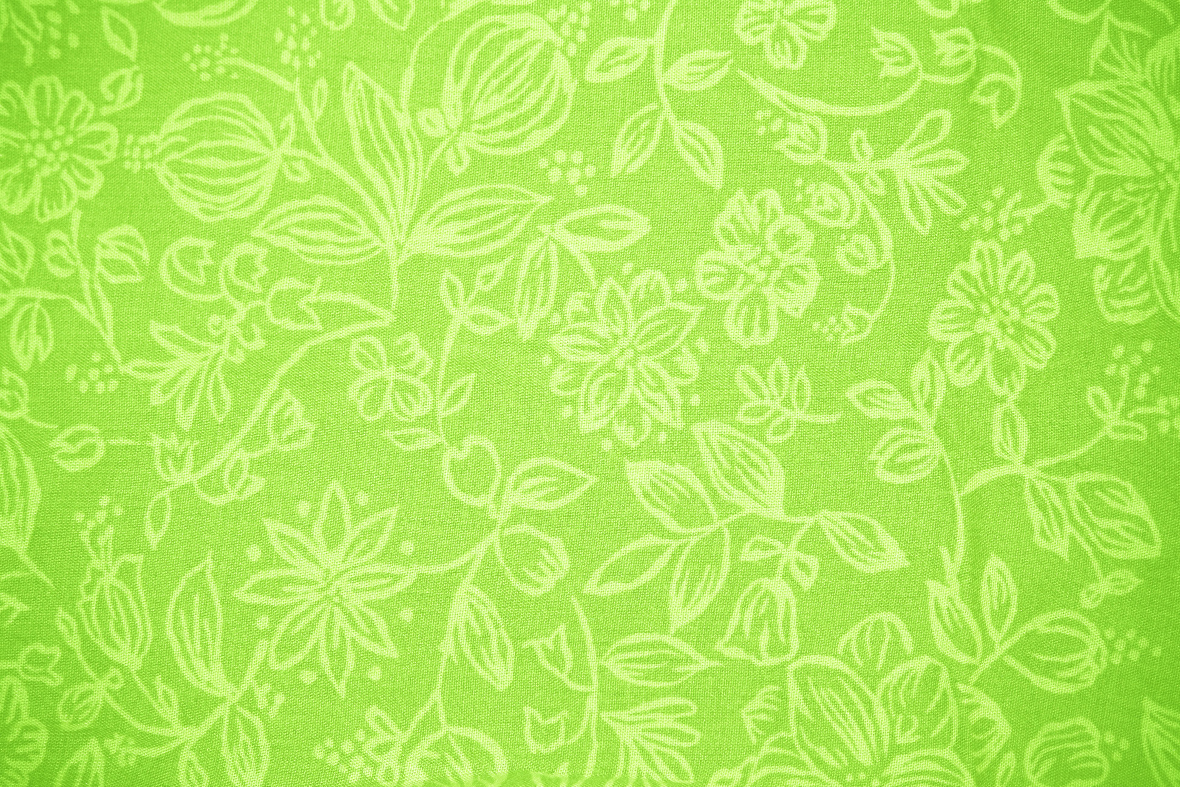 Lime Green Fabric With Floral Pattern Texture Picture Free