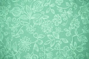 Mint Green Fabric with Floral Pattern Texture - Free High Resolution Photo