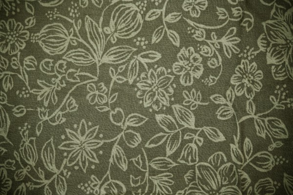Olive Green Fabric with Floral Pattern Texture - Free High Resolution Photo