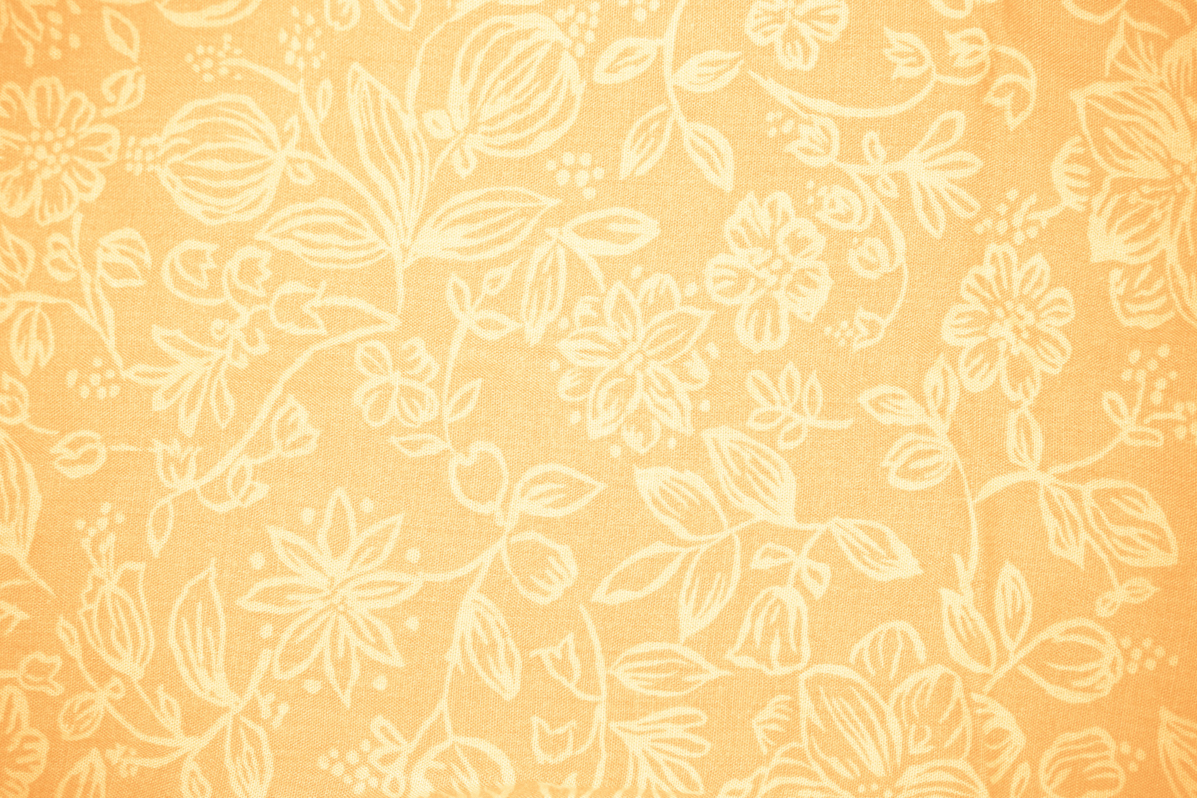 Peach Colored Fabric With Floral Pattern Texture Picture Free