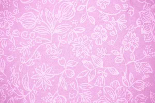 Pink Fabric with Floral Pattern Texture - Free High Resolution Photo