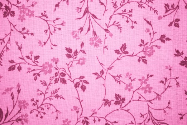 Pink Floral Print Fabric Texture - Free High Resolution Photo