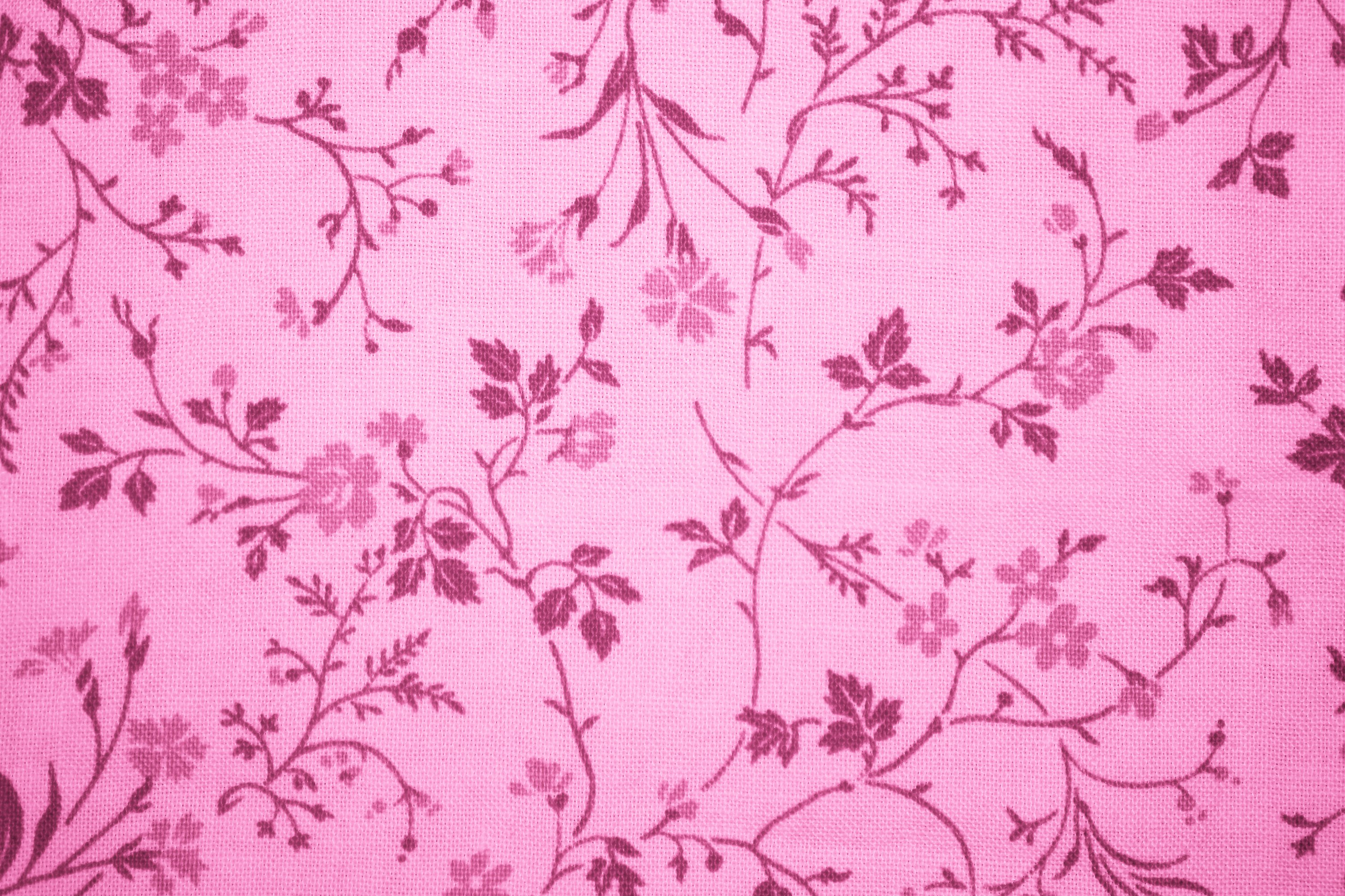 Floral Background Pink And Gold