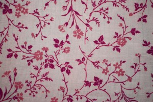 Pink on White Floral Print Fabric Texture - Free High Resolution Photo