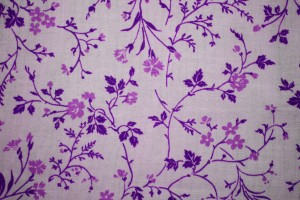 Purple on White Floral Print Fabric Texture - Free High Resolution Photo