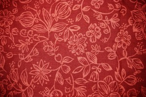 Red Fabric with Floral Pattern Texture - Free High Resolution Photo