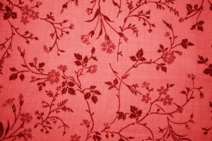 Red Floral Print Fabric Texture - Free High Resolution Photo