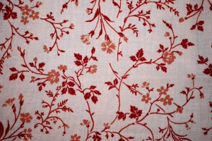 Red on White Floral Print Fabric Texture - Free High Resolution Photo