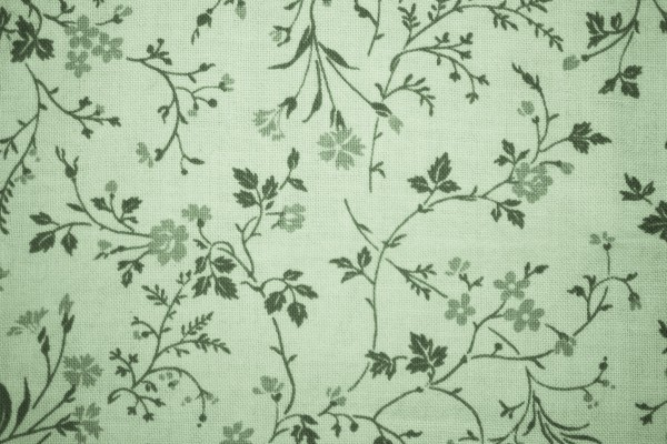 Sage Green Floral Print Fabric Texture - Free High Resolution Photo