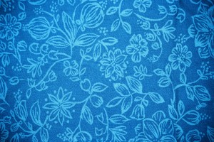 Sky Blue Fabric with Floral Pattern Texture - Free High Resolution Photo