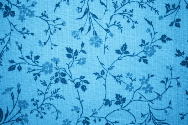 Sky Blue Floral Print Fabric Texture - Free High Resolution Photo