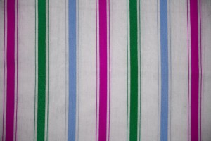 Striped Fabric Texture Green, Blue and Pink on White - Free High Resolution Photo