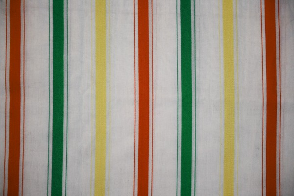 Striped Fabric Texture Orange, Green and Yellow on White - Free High Resolution Photo