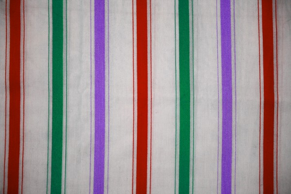 Striped Fabric Texture Red, Green and Purple on White - Free High Resolution Photo