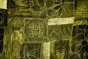 Gold Patchwork Fabric Texture - Free High Resolution Photo