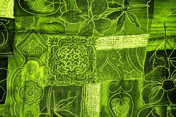 Lime Green Patchwork Fabric Texture - Free High Resolution Photo