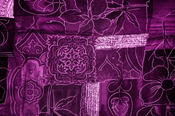 Magenta Patchwork Fabric Texture - Free High Resolution Photo