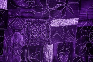 Purple Patchwork Fabric Texture - Free High Resolution Photo