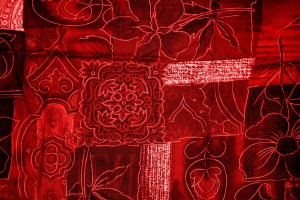 Red Patchwork Fabric Texture - Free High Resolution Photo