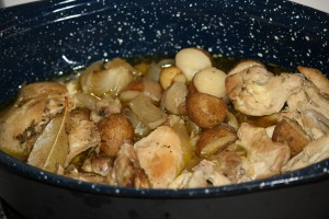 Roasted Chicken Pieces with Potatoes and Onions - Free High Resolution Photo