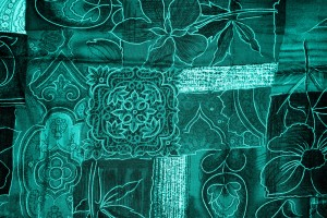 Teal Patchwork Fabric Texture - Free High Resolution Photo