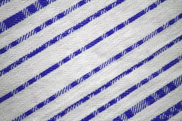 Blue on White Diagonal Stripes Fabric Texture - Free High Resolution Photo
