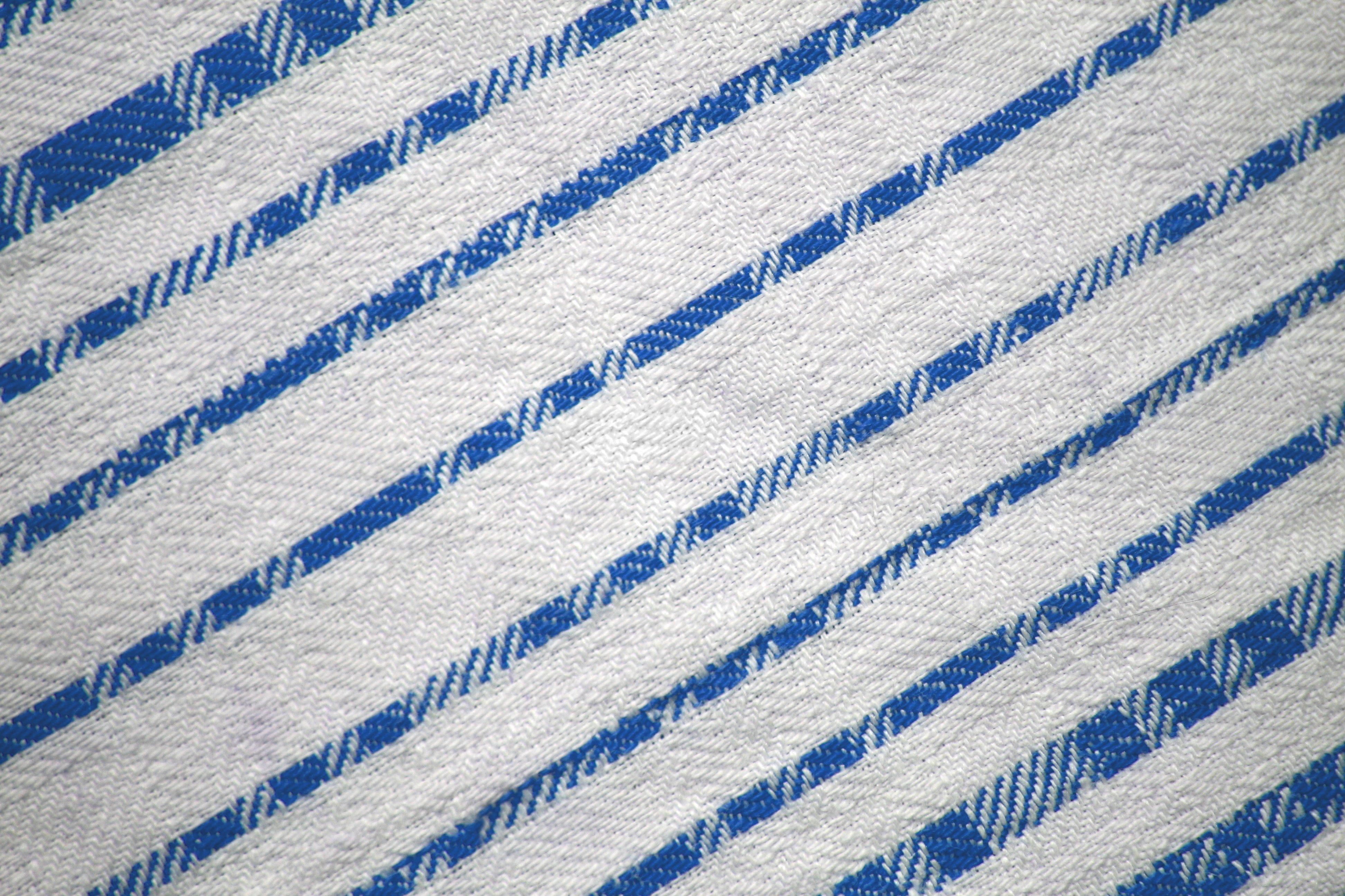 Light Blue On White Diagonal Stripes Fabric Texture
