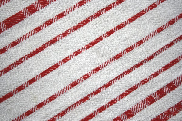 Red on White Diagonal Stripes Fabric Texture - Free High Resolution Photo