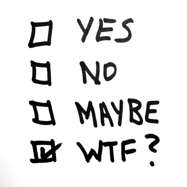 Yes, No, Maybe, WTF? - Free High Resolution Photo