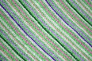 Diagonally Striped Knit Fabric Texture - Green, Pink and Purple - Free High Resolution Photo