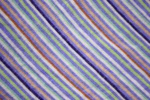 Diagonally Striped Knit Fabric Texture - Indigo, Green and Peach - Free High Resolution Photo