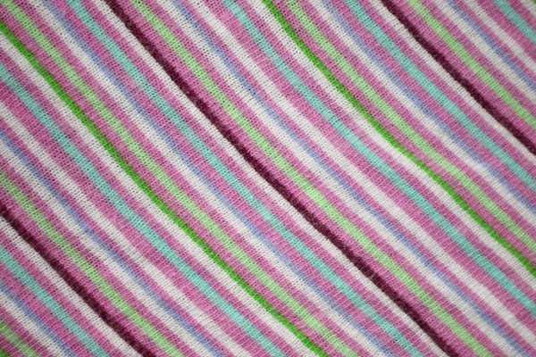 Diagonally Striped Knit Fabric Texture - Pinks and Greens - Free High Resolution Photo