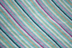 Diagonally Striped Knit Fabric Texture - Teal, Pink and Peach - Free High Resolution Photo