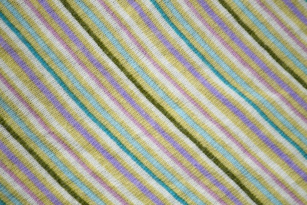 Diagonally Striped Knit Fabric Texture - Yellow, Teal and Purple - Free High Resolution Photo