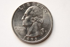 US Quarter Dollar Coin Front - Free High Resolution Photo