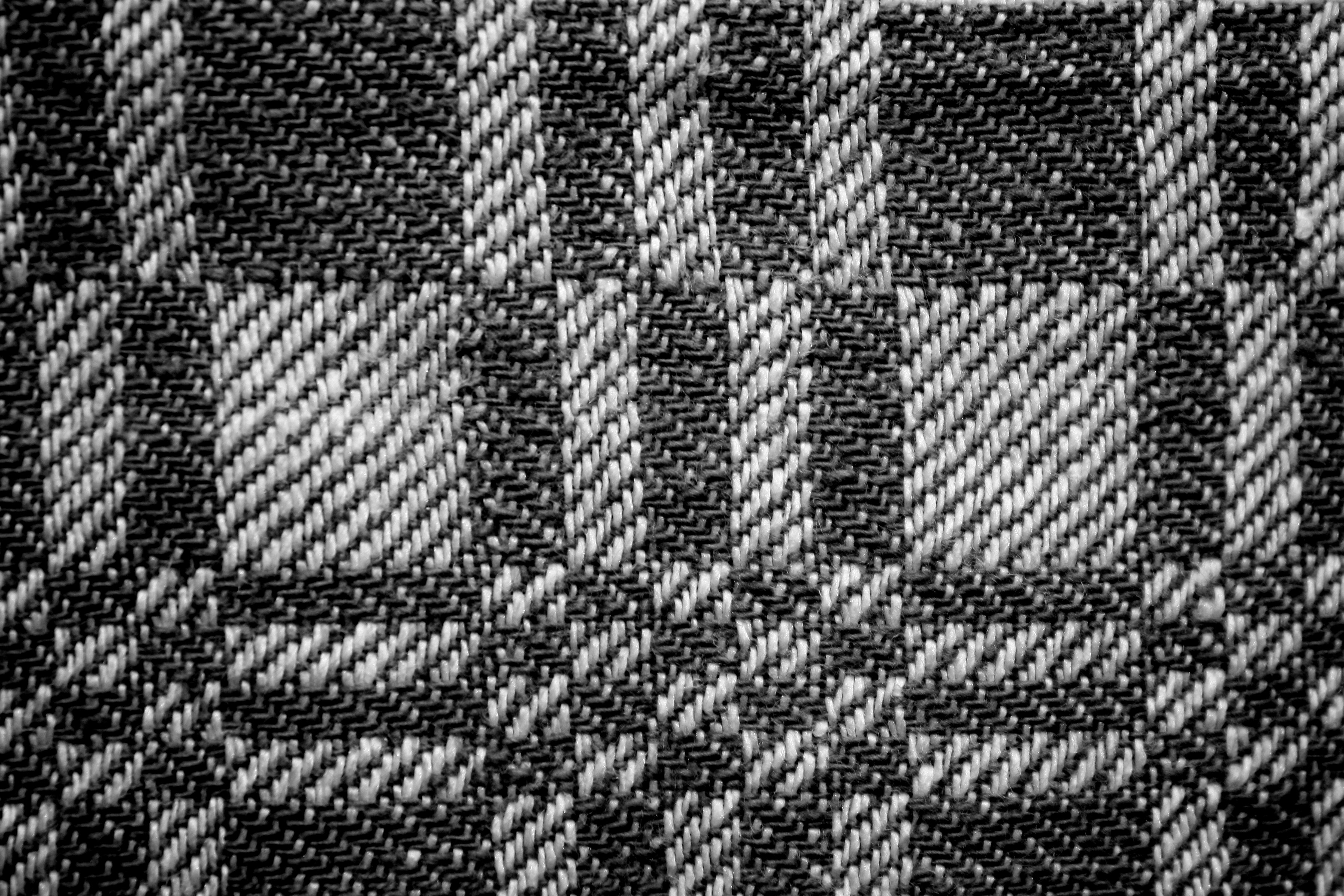 Black And White Woven Fabric Texture With Squares Pattern