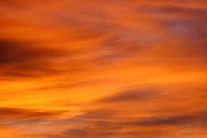 Brilliant Orange Sunset Clouds - Free High Resolution Photo