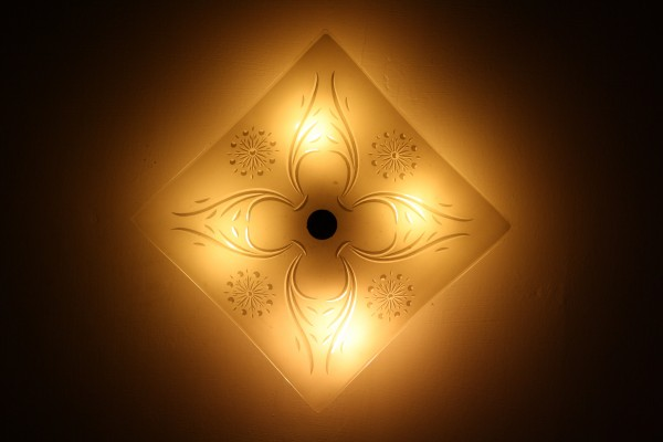 Ceiling Light Fixture - Square with 4 Lights - Free High Resolution Photo
