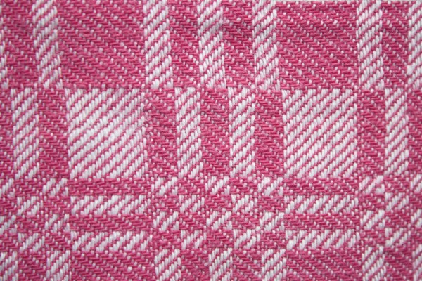 Pink and White Woven Fabric Texture with Squares Pattern - Free High Resolution Photo