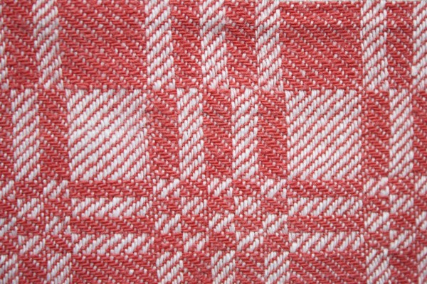 Red and White Woven Fabric Texture with Squares Pattern - Free High Resolution Photo