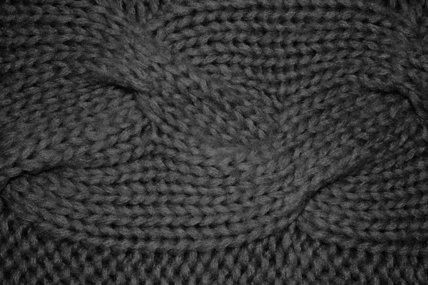 Charcoal Gray Cable Knit Pattern Texture - Free High Resolution Photo