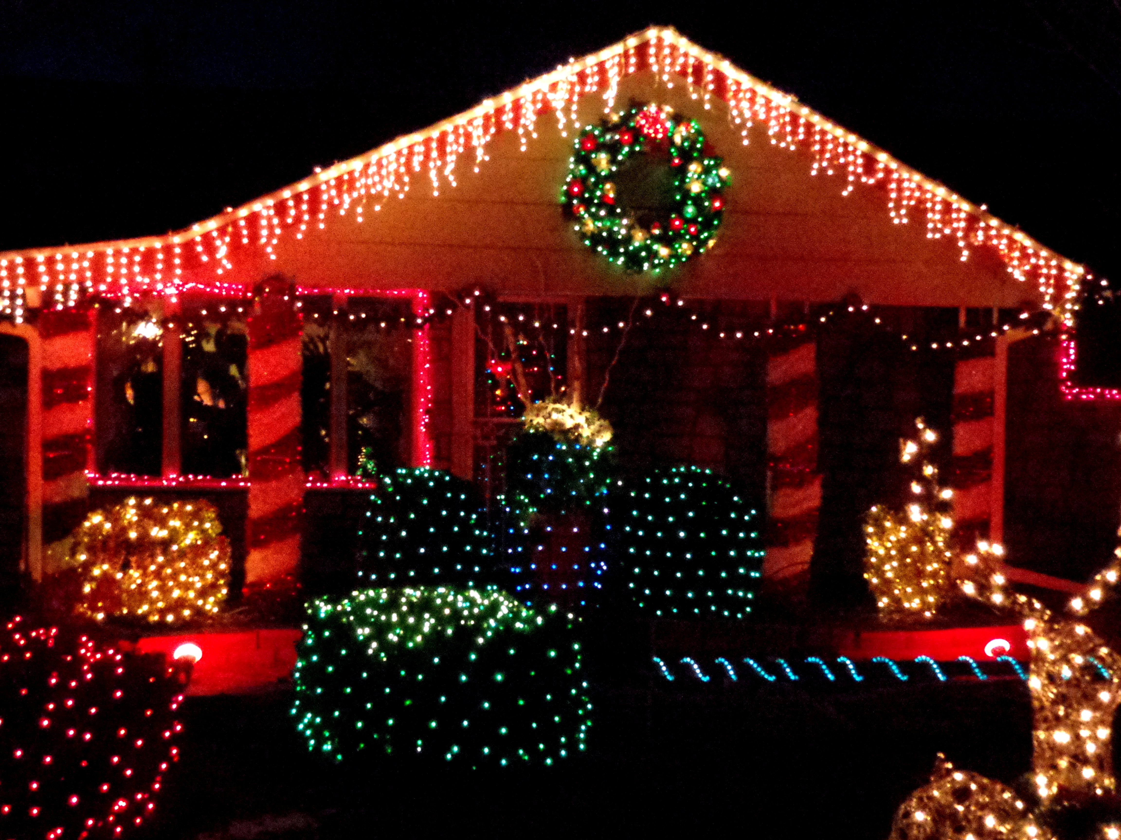 Christmas Lights Decorating House