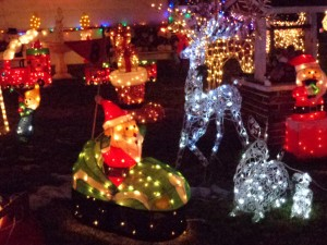 Christmas Lights Lawn Ornaments - Free High Resolution Photo