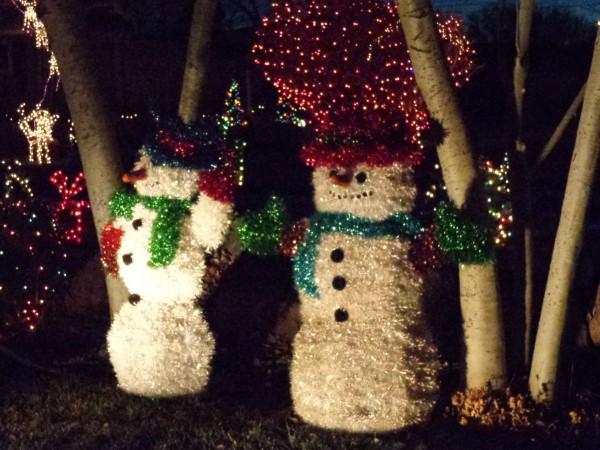Christmas Snowmen Holiday Yard Decorations - Free High Resolution Photo
