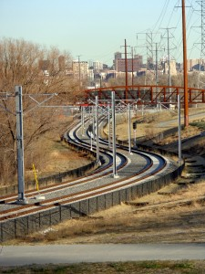Curving Light Rail Train Tracks - Free High Resolution Photo