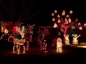 Holiday Lights Christmas Yard Decorations - Free High Resolution Photo