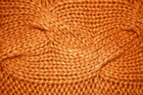 Orange Cable Knit Pattern Texture - Free High Resolution Photo