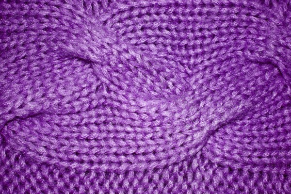 Purple Cable Knit Pattern Texture - Free High Resolution Photo
